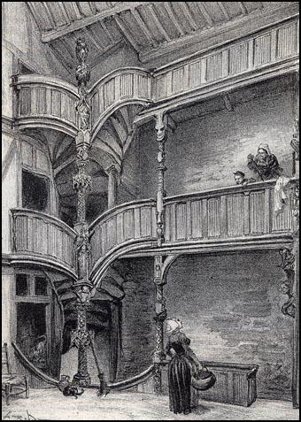 """""""Inside a house in Morlaix"""" – A. Robida"""